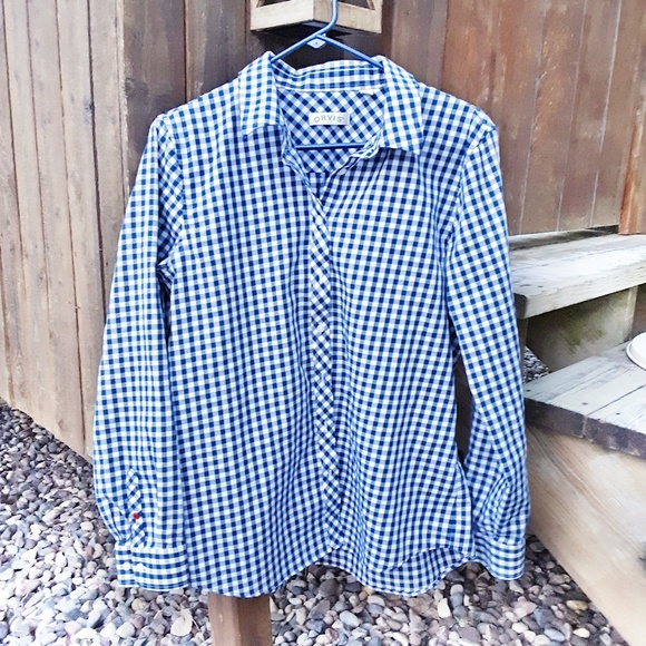 3f82072d Orvis Blue Gingham Check Button Down Shirt size 14.  M_5bfb605dfe5151380ab240ec